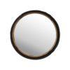 Black & Gold Decorative Round Mirror