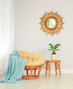 Rowan Gold Mirror 60cm