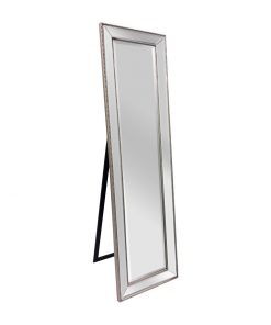 Silver Beaded Cheval Dressing Mirror