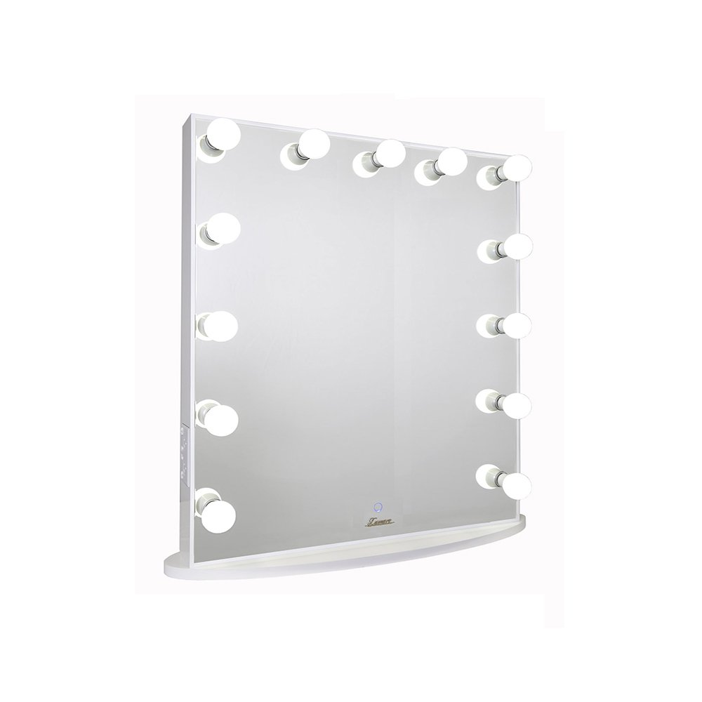 Makeup Mirror.Lumiere White Studio Makeup Mirror 75cm X 90cm