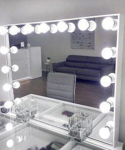 Lumiere White Salon Makeup Mirror