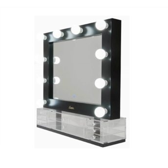 Lumiere Landscape Black Hollywood Makeup Mirror
