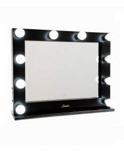 Lumiere Landscape Black Hollywood Makeup Mirror