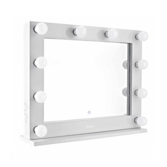 Lumiere Landscape White Hollywood Makeup Mirror