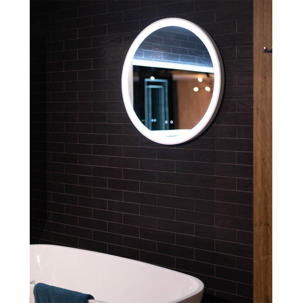 5262dfeca7ee Eclipse Flex 800 Round Backlit Mirror with Adjustable LED lighting 80cm