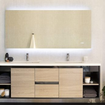 miro premium backlit mirror with bluetooth