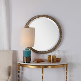 Antique Wayde Round Mirror by Uttermost 76cm