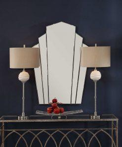 Art Deco Inez Frameless Mirror by Uttermost 81cm x 114cm