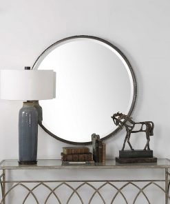 Contemporary Ada Round Mirror by Uttermost 100cm