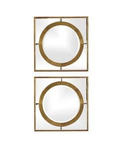 Contemporary Gaza Square Mirrors by Uttermost - 45cm (Set of 2)