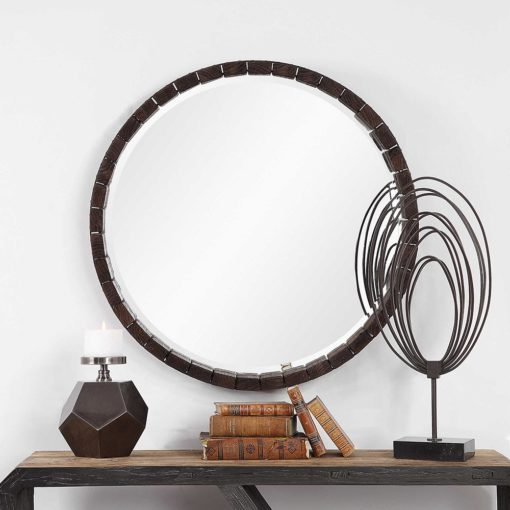 Contemporary Islay Round Mirror by Uttermost 89cm