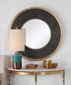 Contemporary Odyssey Round Mirror by Uttermost 90cm