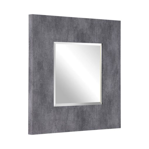 Contemporary Rohan Square Mirror by Uttermost 94cm - Dark Grey