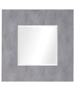 Contemporary Rohan Square Mirror by Uttermost 94cm - Light Grey