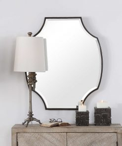 Contemporary Ulalia Mirror by Uttermost 78cm x 90cm