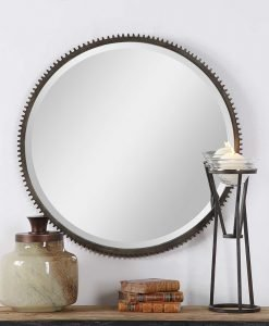 Contemporary Werner Round Mirror by Uttermost 76cm