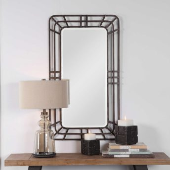 Decorative Alston Mirror by Uttermost 66cm x 116cm
