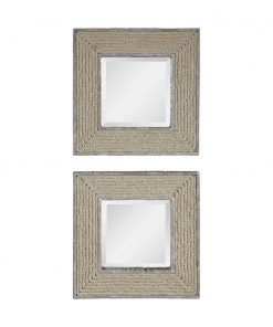 Decorative Cambay Square Mirrors by Uttermost 50cm (Set of 2)