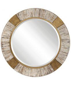 Decorative Reuben Round Mirror by Uttermost 100cm