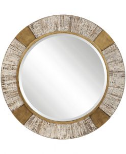 Decorative Reuben Round Mirror by Uttermost 100cm