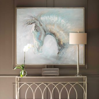 Ice Illusion Hand Painted Canvas by Uttermost 157cm x 132cm