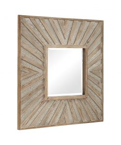 Large Square Gideon Mirror by Uttermost 101cm