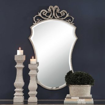 Ornate Sadie Scroll Mirror by Uttermost 63cm x 111cm