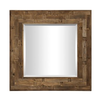 Rustic Emelin Square Mirror by Uttermost 124cm