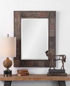 Rustic Kele Mirror by Uttermost 76cm x 101cm