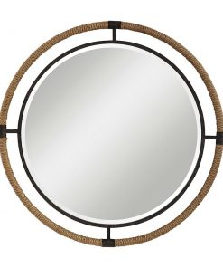 Rustic Melville Round Mirror by Uttermost 90cm