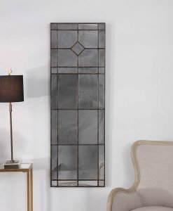 Rustic Winthrop Mirror by Uttermost 50cm x 152cm