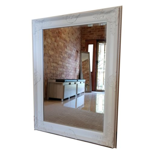 Taylor White Ornate Wall Mirror
