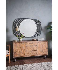 Venus Ring Mirror - Black 80cm x 120cm
