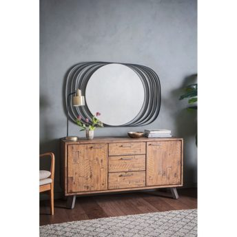 Venus Ring Mirror - Black 80cm x 120cm
