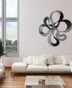 Black Abstract Metal Wall Art