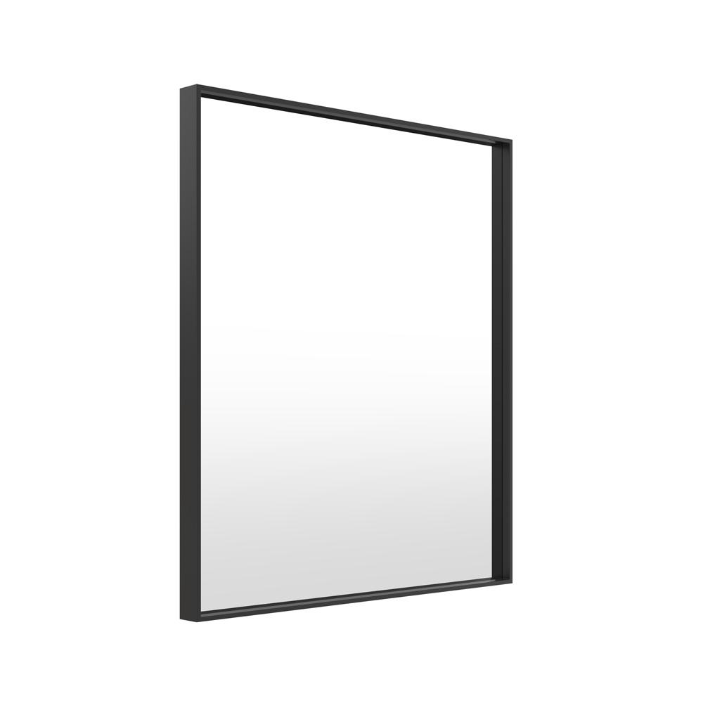 Milan Metal Black Frame Bathroom Mirror 75cm X 90cm Luxe