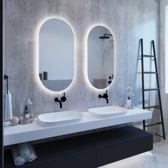 Oval LED Backlit Mirror