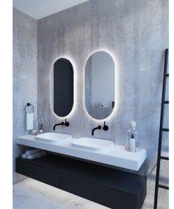 Oval LED Backlit Mirror