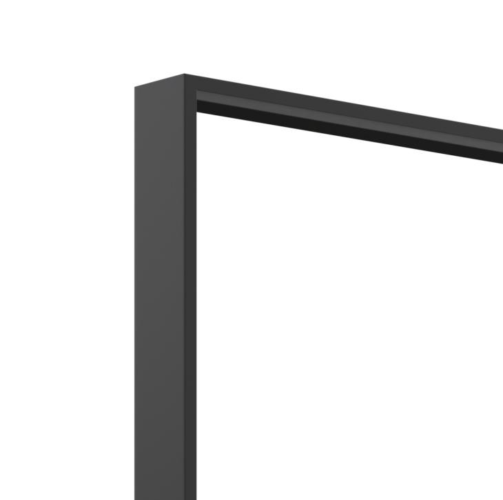 Milan Metal Black Frame Bathroom Mirror 75cm x 90cm | Luxe ...