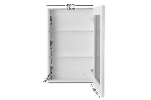 Single Door Mirrored Bathroom Cabinet