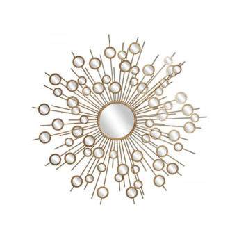 Gold-Circles-Mirrored-Wall-Art-113cm