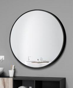Classic Black Frame Round Mirror – 4 Sizes (50cm / 60cm / 70cm / 80cm)