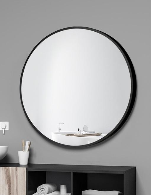 Classic Black Frame Round Mirror 4 Sizes 50cm 60cm 70cm 80cm