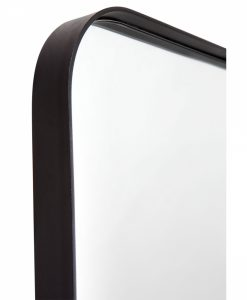 Black Curved Corner Mirror
