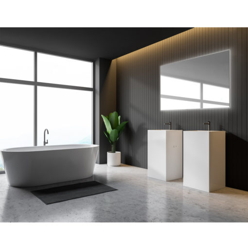 Luxe Rectangle Backlit LED Mirror with Demister 900mm or 1200mm