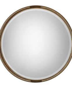 Finnick Gold Round Mirror by Uttermost 91cm