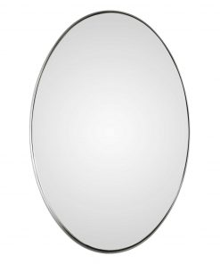 Pursley Brushed Nickel Oval Mirror by Uttermost 50cm x 76cm