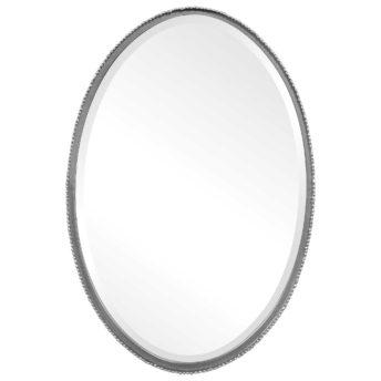 Reva Silver Oval Mirror by Uttermost 53cm x 78cm