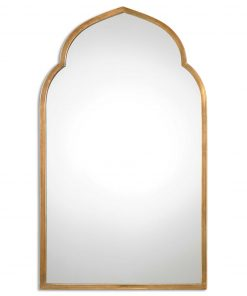 Kenitra Gold Arched Mirror by Uttermost 101cm x 60cm