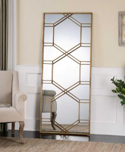 Kennis Gold Mirror by Uttermost 178cm x 74cm